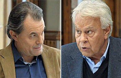 Cara a cara d'Artur Mas i Felipe González